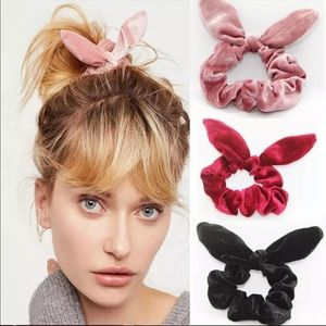 Accessories - 3pc Womens hair tie  velvet scrunchies holder